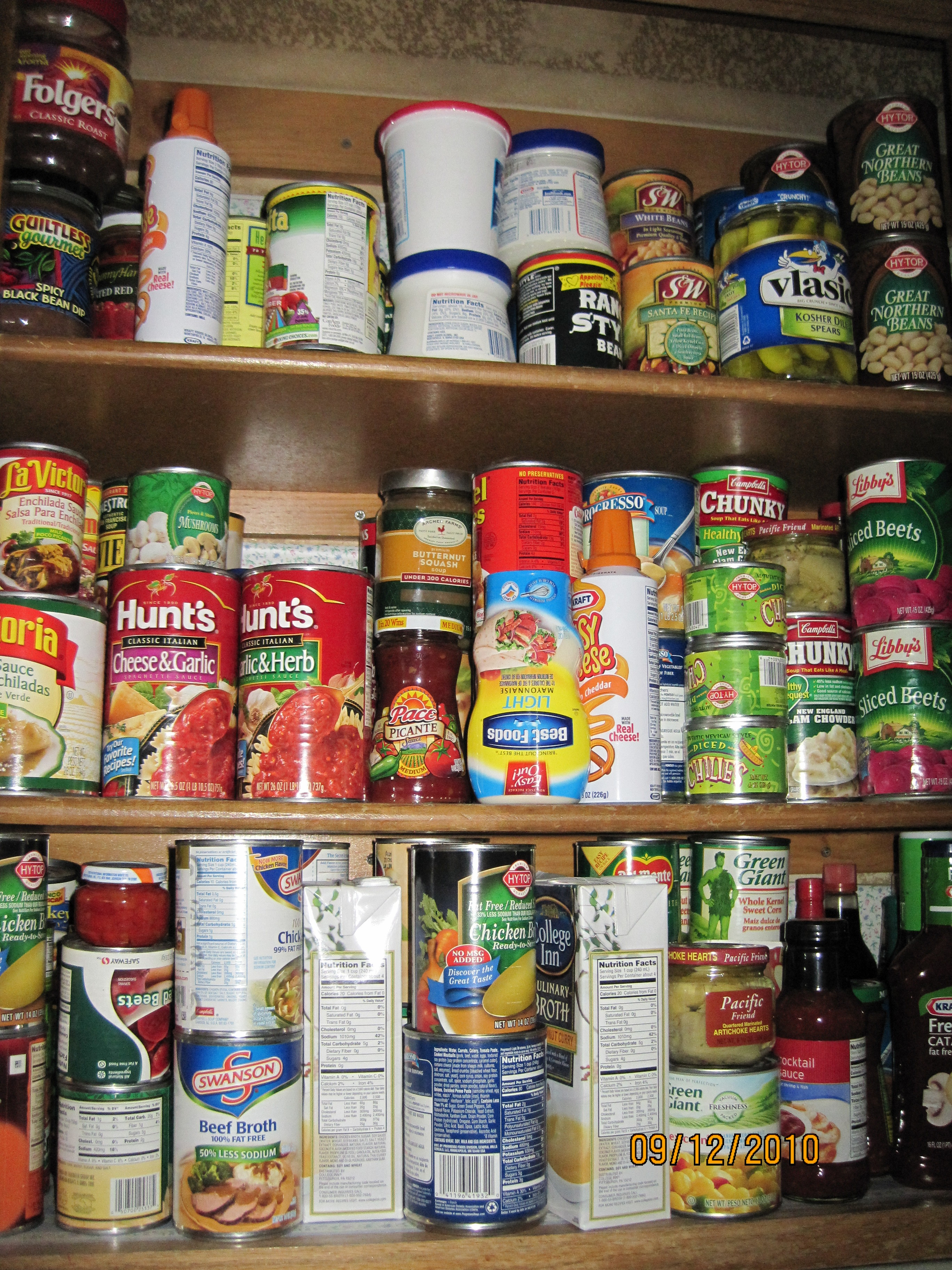 stored food