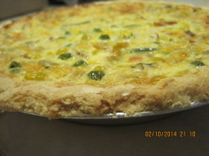 Quiche made from Leftovers
