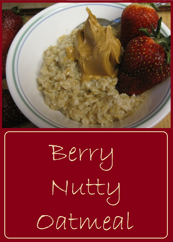 Berry Nutty Oatmeal--Strawberries and peanut butter transform your morning bowl of oats into something special.