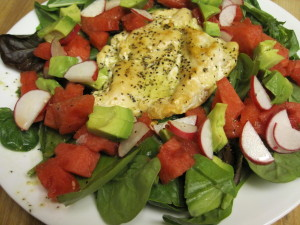 Grilled Chicken Salad with watermelon 1.3