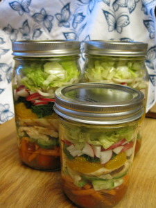 chinese chicken salad in quart and pint jars