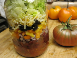 Vegetarian Taco Salad in a Jar