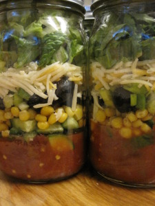 another version of taco salad in a jar
