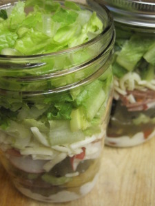 a trip to a salad bar in a jar