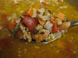 Hoppin John Soup is a hearty and delicious New Year's Day treat