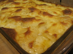AuGratin Potatoes straight from the oven