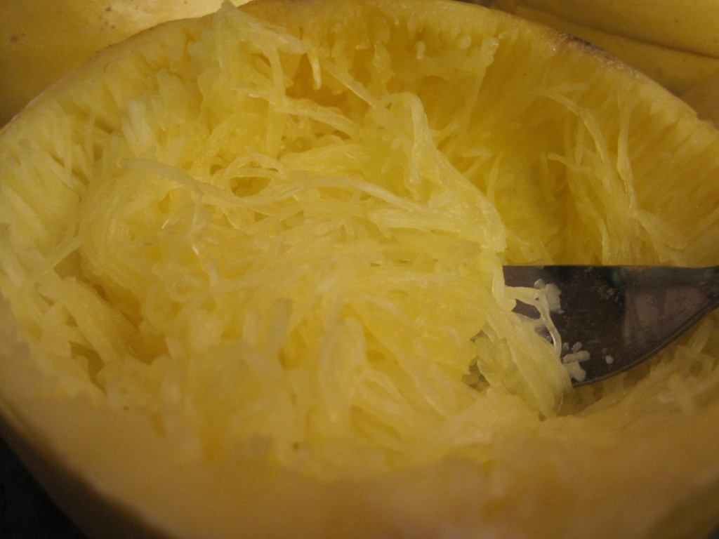 There's a lot of spaghetti in a spaghetti squash.