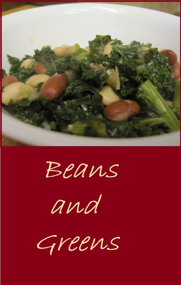 Beans and Greens--A delicious combination that's great as a vegetarian entree or as a side.