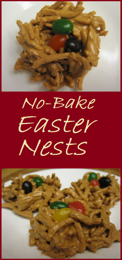 No-Bake Easter Nests--A simple, and fun, treat to make for Easter.
