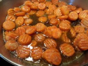 cooked candied carrots