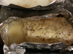 the frozen fish shrunk when cooking