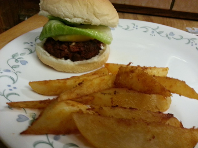 taco seasoned overn fries with chorizo burgers