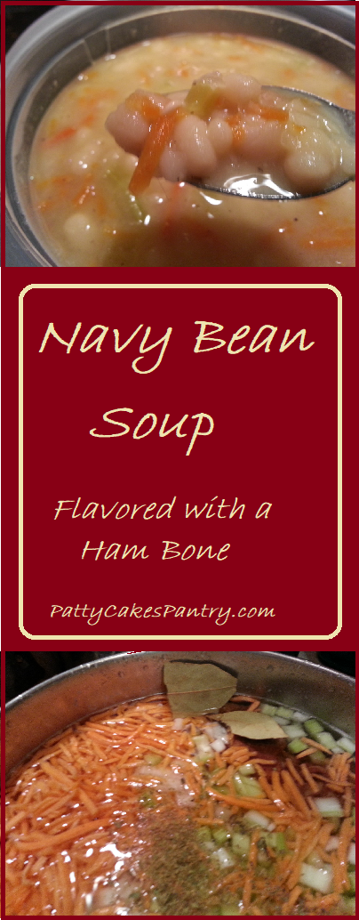Navy Bean Soup--This soup is a great way to use the bone from your holiday ham.