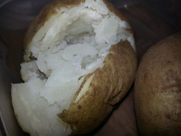 started in the pressure cooker and finished in the oven makes for great baked potatoes