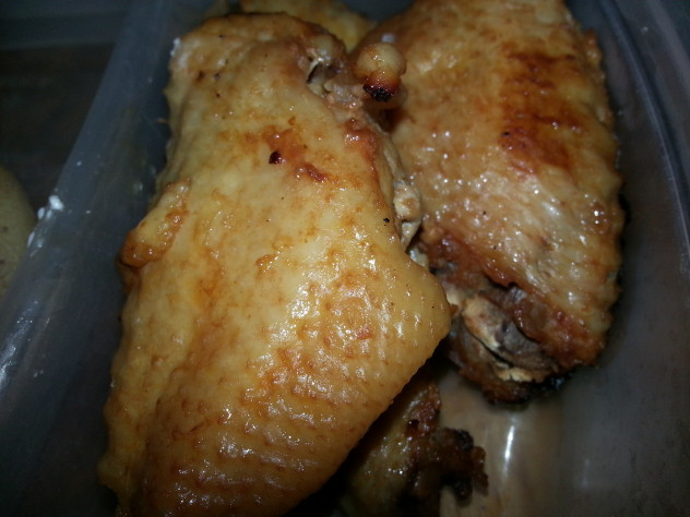 hot wings are baked after coming out of the pressure cooker