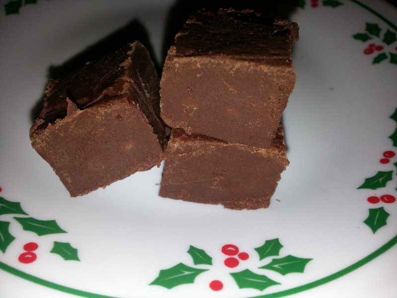 Five minute, four ingredient, microwave fudge
