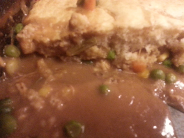 Pot Pie made from leftover turkey
