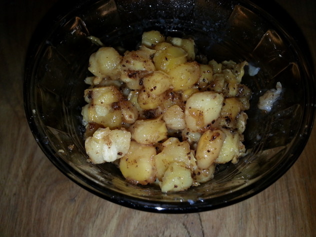 hominy heated in bacon grease