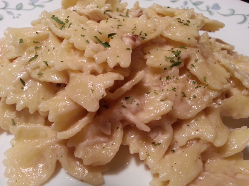 Pressure Cooker Chicken Alfredo