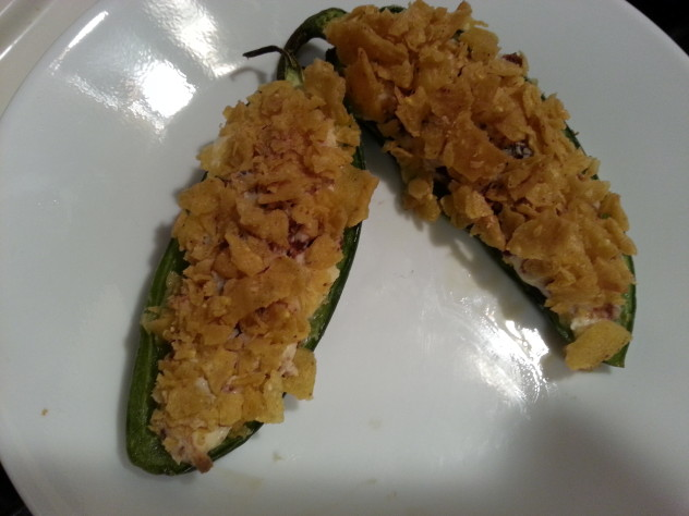 warm stuffed jalapenos fresh from the oven