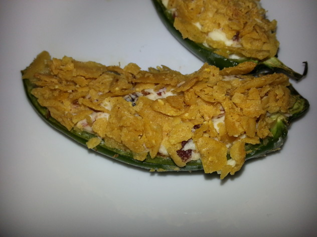 Cool Stuffed Jalapenos before serving