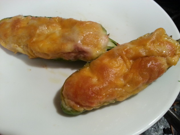 Perfectly browned stuffed jalapeno