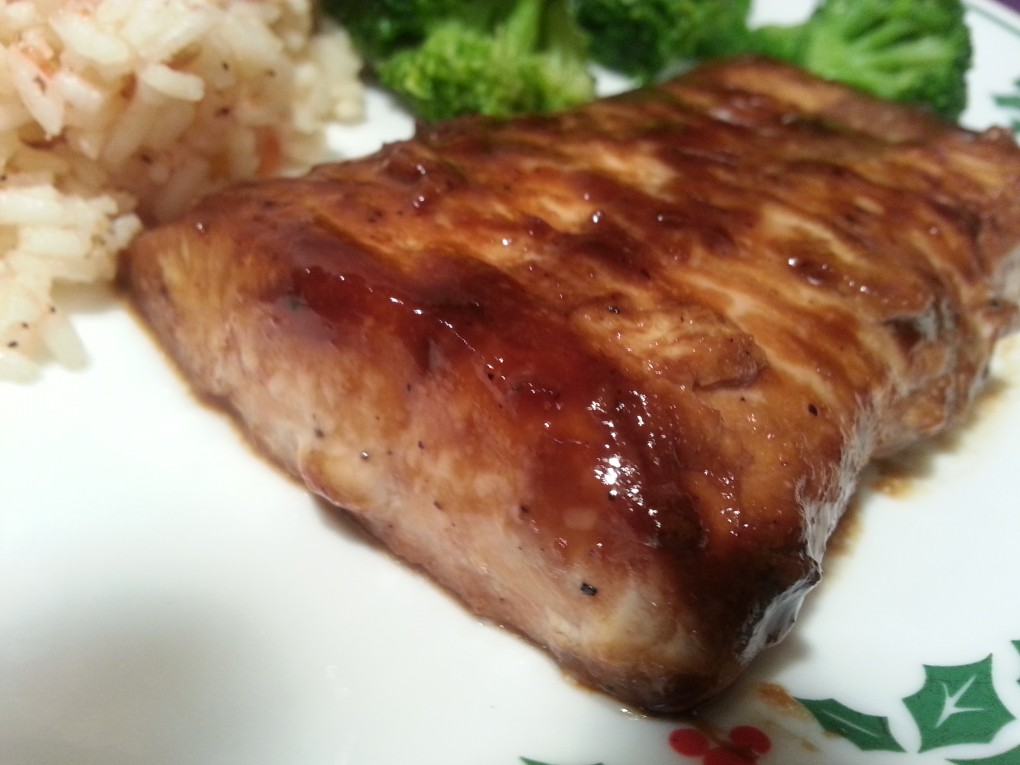 Salmon Glazed with maple and dijon mustard
