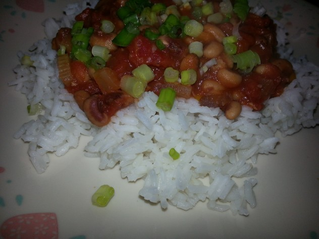 black eyed peas and tomates.