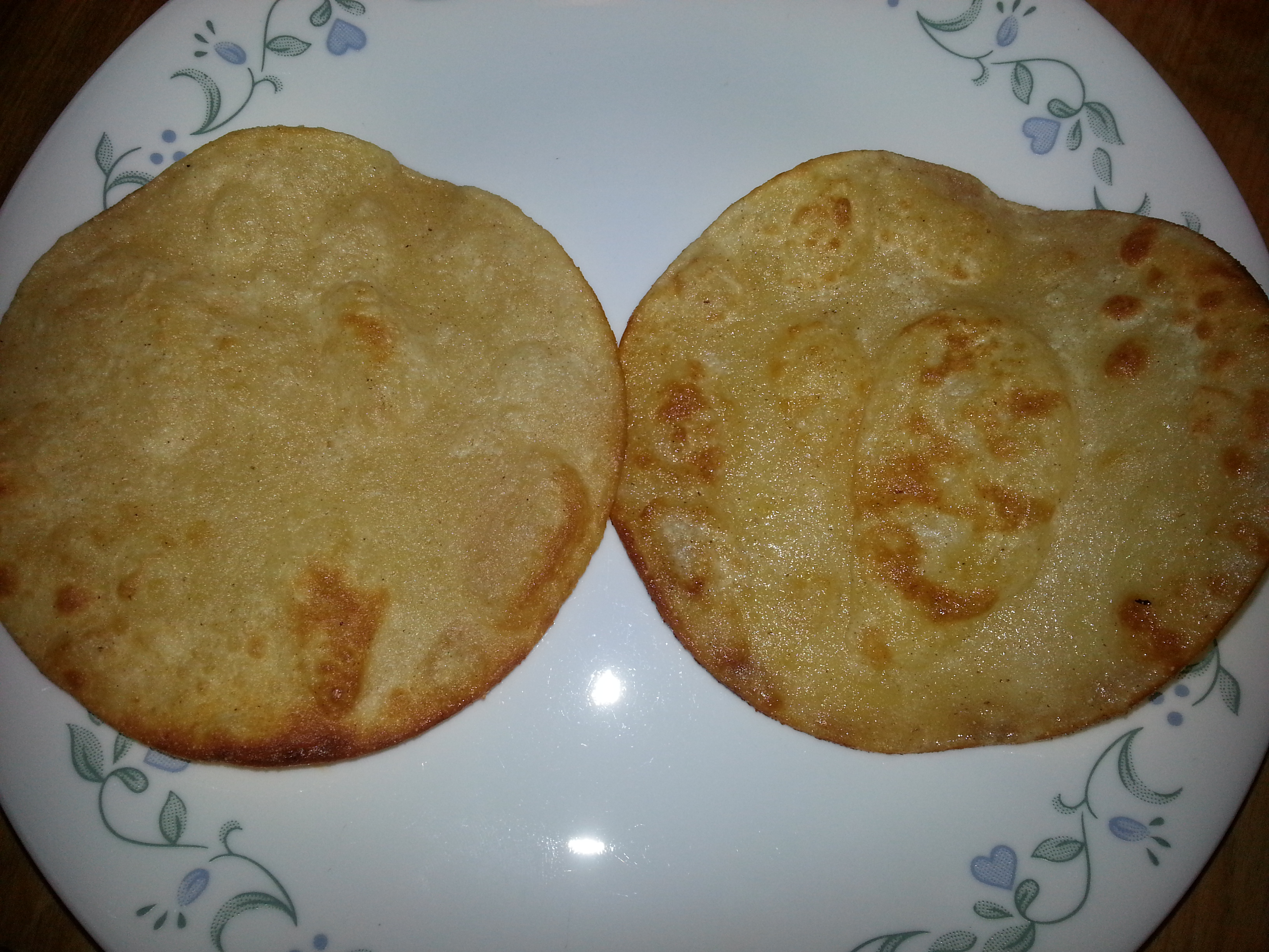 fried tortillas can be topped wtih refried beans to make tostadas.