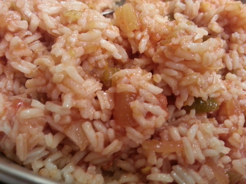 Rice stir fried with Salsa