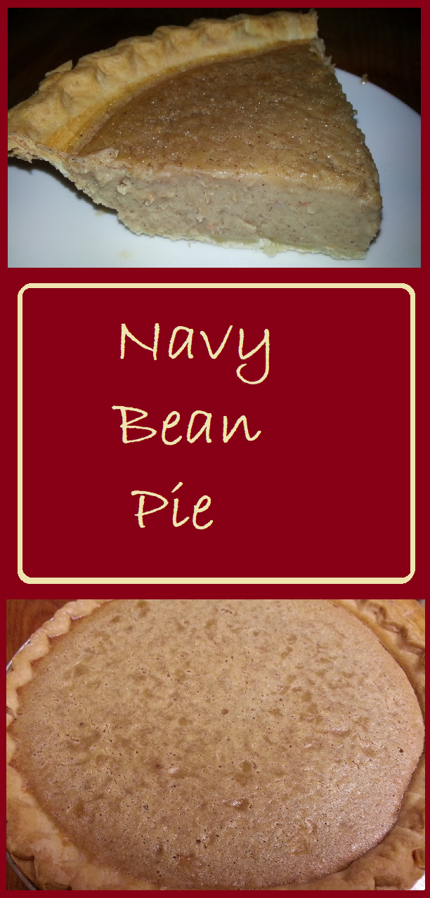 Navy bean pie is a delicious alternative to pumpkin or sweet potatoe.