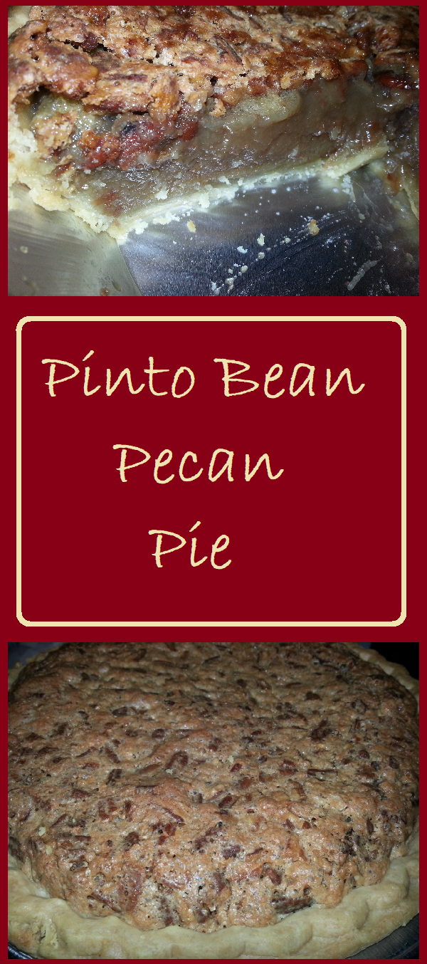 This delicious pinto bean pecan pie looks and tastes like a pecan pie, but it has added protein and fiber from the addition of pinto beans.
