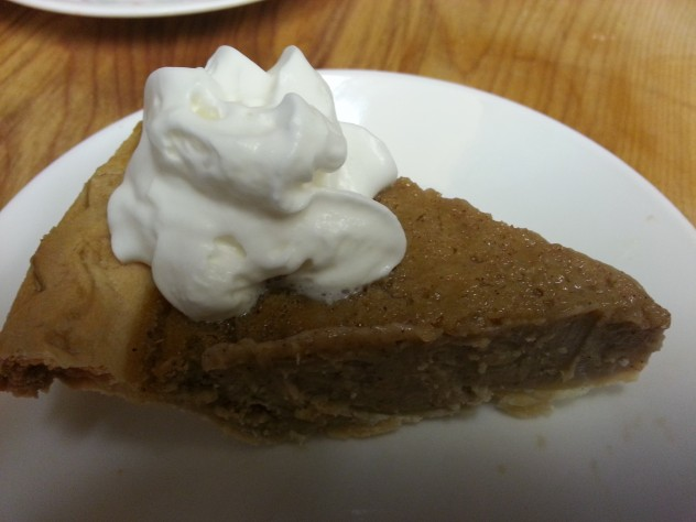 whipped cream is a great accompaniment to navy bean pie
