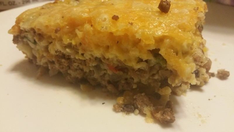 Southwest cheesebuger pie