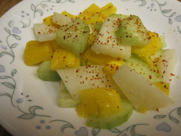 cucumber, jicama and mango salad