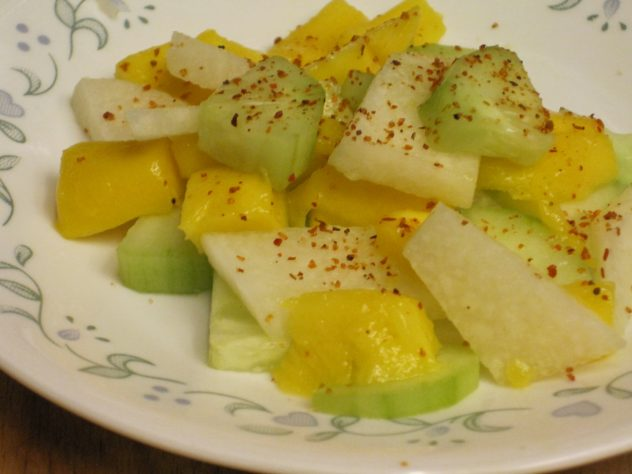 cucumber jicama and mango salad