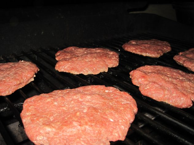 Teriyaki Burgers on Grill