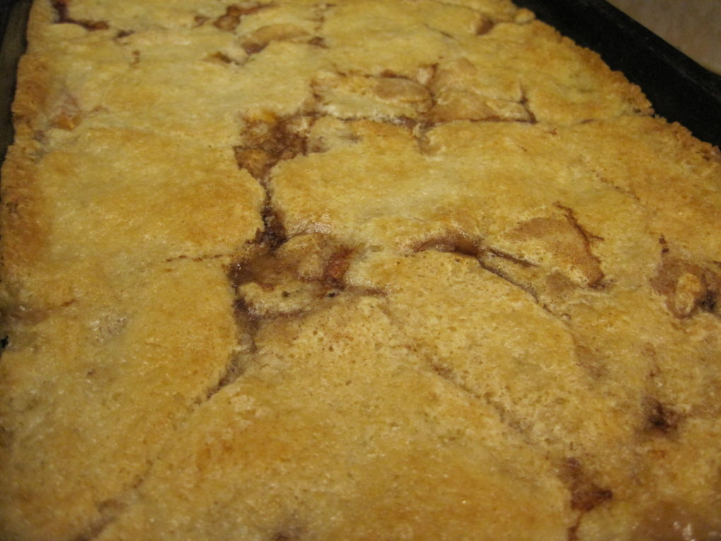 Easy Nectarine Cobbler--The finished cobbler
