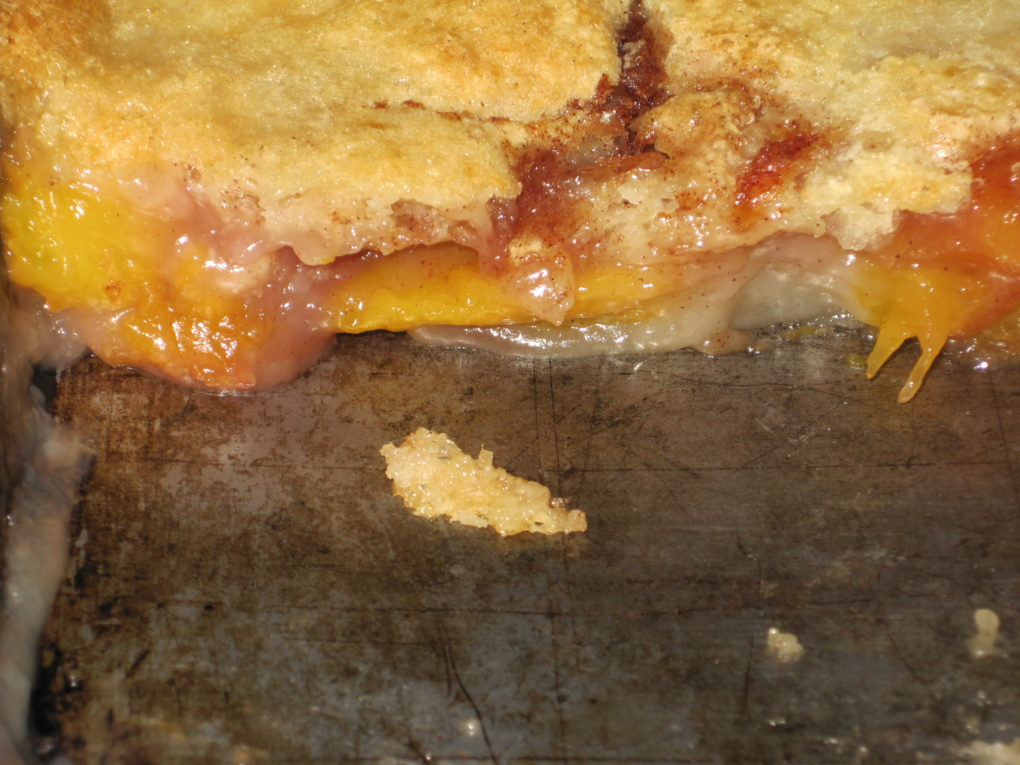 Easy Nectarine Cobbler--Cross section