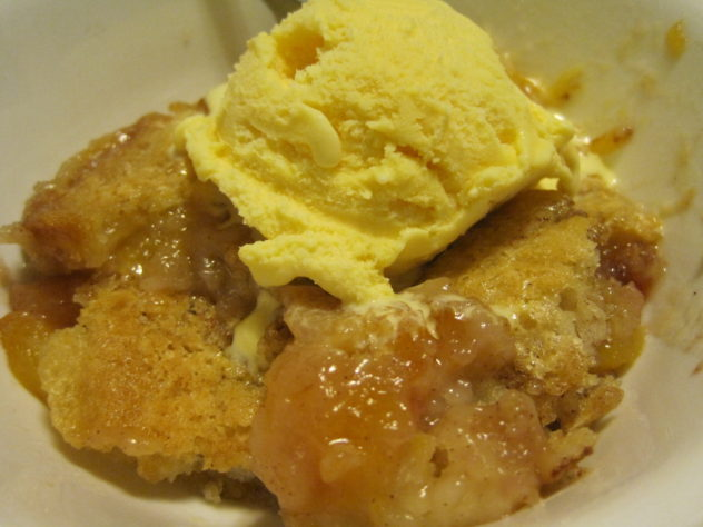 Easy Nectarine Cobbler A La Mode