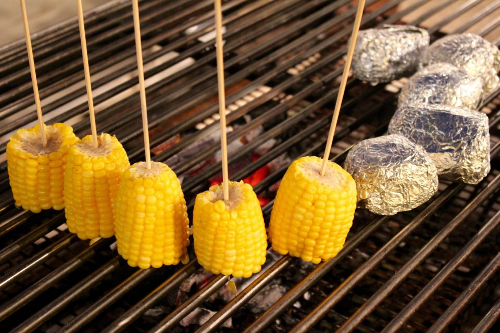 grilled corn--on a skewer