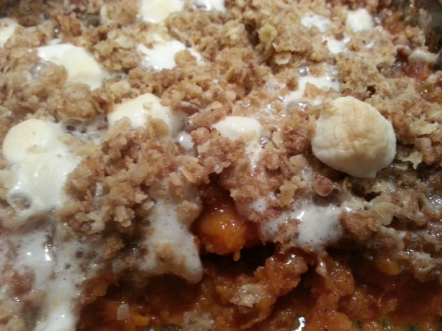 Sweet Potato Casserole is rich and delicious.