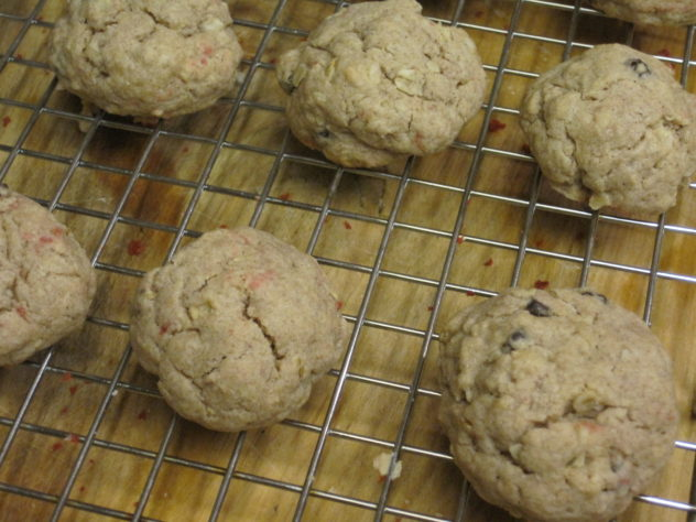 Oatmeal Raisin Spice Cookies made from cake mix