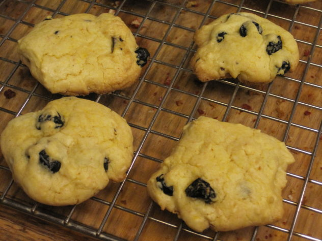 Delicious Lemon Cookies with dried blueberries. This recip starts with a lemon cake mix.