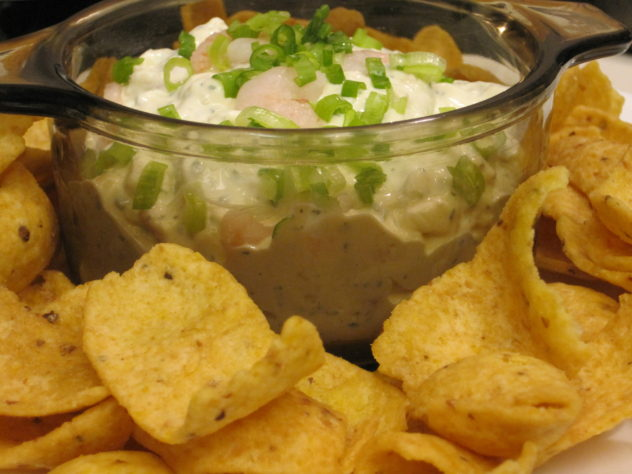 4 ingredient shrimp dip is simple and delicious.