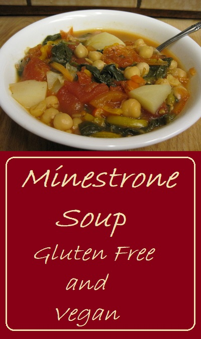 Minestrone Soup--Gluten Free and Vegan