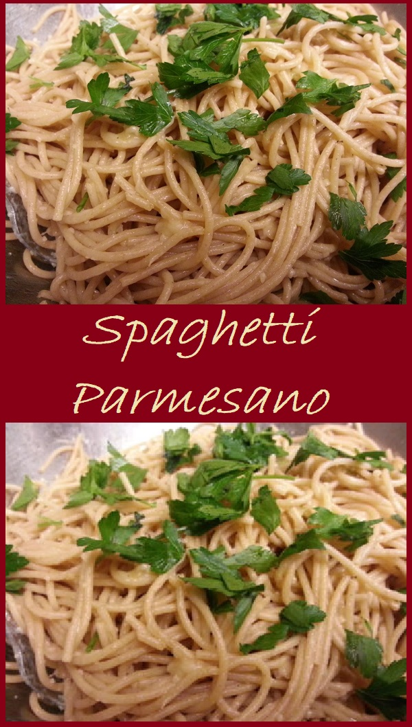 Spaghetti Parmesano--just a few simple ingredients create the perfect pasta dish.