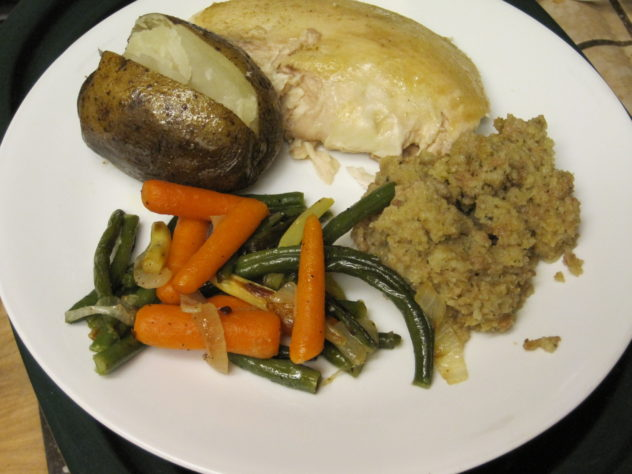 Slow Cooker Stuffed Chicken and Potatoes