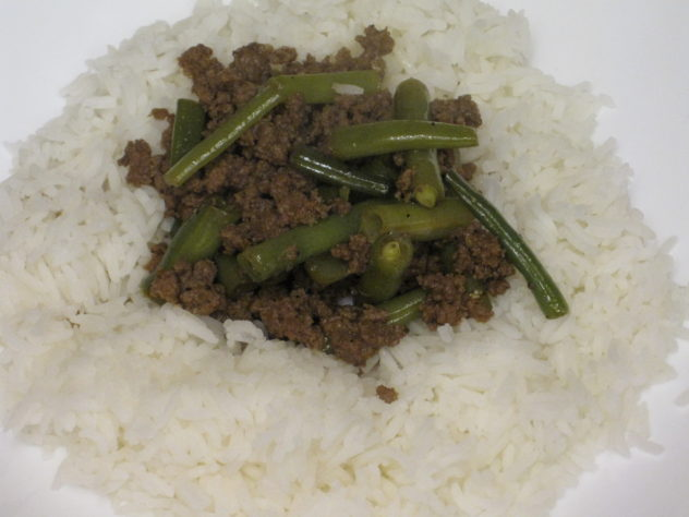 Ground Beef and Green Bean Teriyaki is simple and delicious and served over rice.
