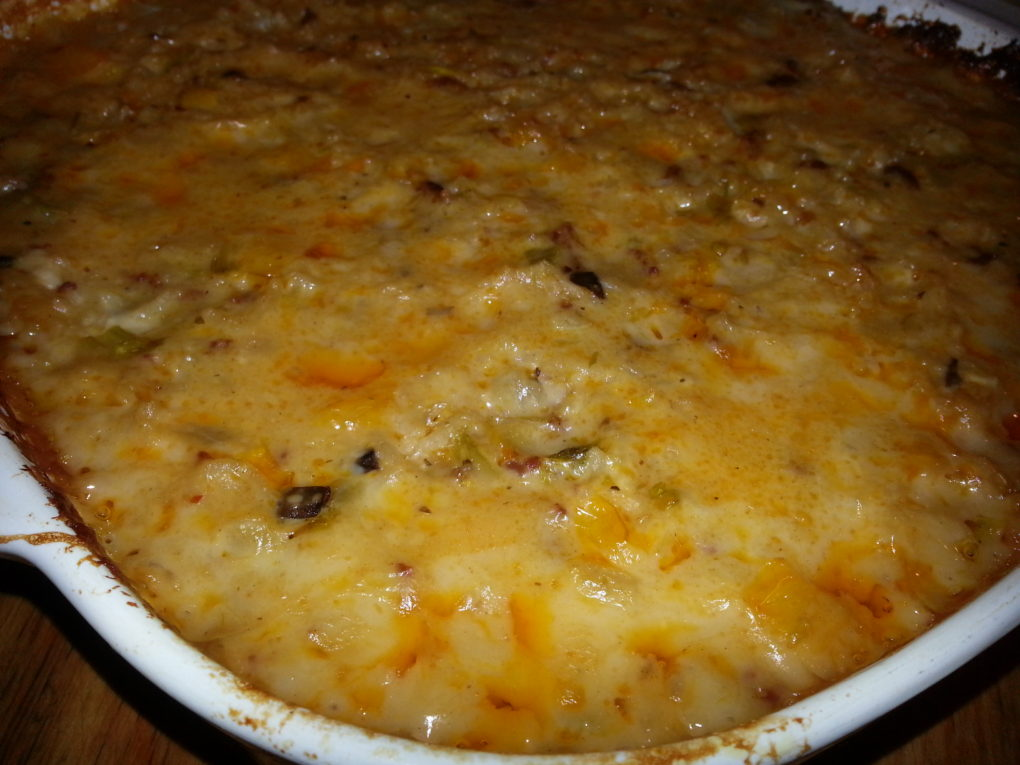 Italian Sausag and Rice Casserole--Creamy and Delicious